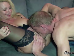 German Mega big melons Cougar Jenny Screws with Fat shaft User